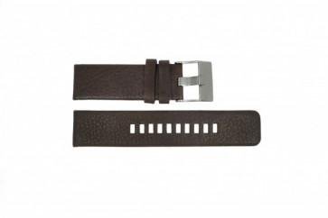 Watch strap Diesel DZ1467 Leather Brown 24mm