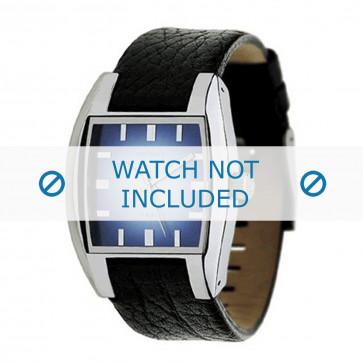 Watch strap Diesel DZ1032 Leather Black 17mm