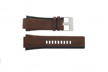 Diesel watch strap DZ-1092 Leather Brown 22mm