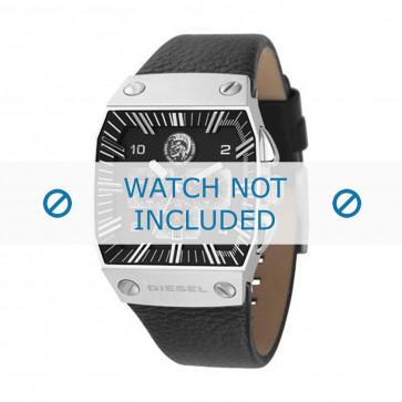 Diesel watch strap DZ9013 Leather Black 30mm
