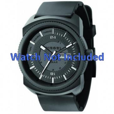 Watch strap Diesel DZ1262 Rubber Black 26mm