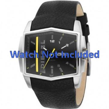 Watch strap Diesel DZ1340 Leather Black 30mm