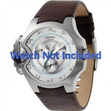 Watch strap Diesel DZ4132 Leather Brown 17mm