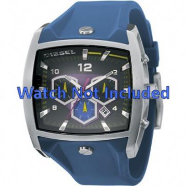 Diesel watch strap DZ4164 Silicone Blue 28mm