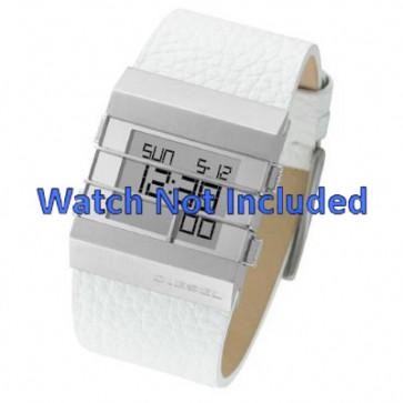 Watch strap Diesel DZ7087 Leather White 36mm