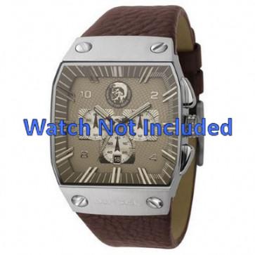 Watch strap Diesel DZ9038 Leather Brown 32mm