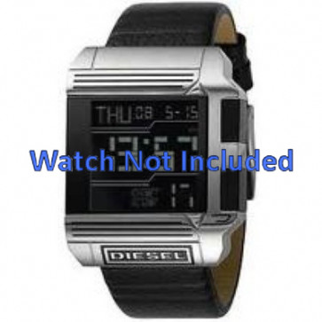 Watch strap Diesel DZ7113 Leather Black 26mm