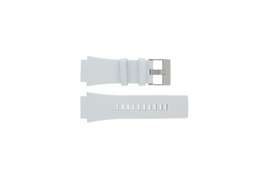Diesel watch strap DZ1449 Leather White 25mm