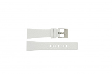 Diesel watch strap DZ-5102 Leather White 23mm