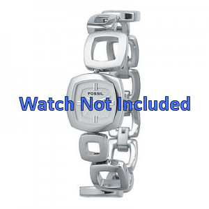 Fossil watch strap ES1869 / ES1884 / ES1964 Metal Silver 15mm