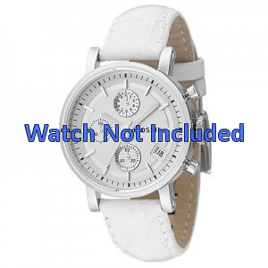 Watch strap Fossil ES2202 Leather White 18mm