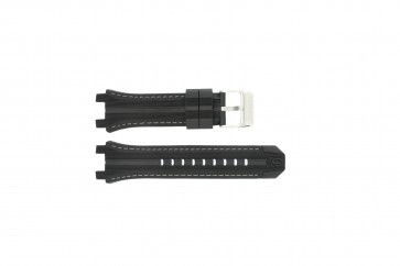 Festina watch strap F16350/A Rubber Black 23mm + grey stitching