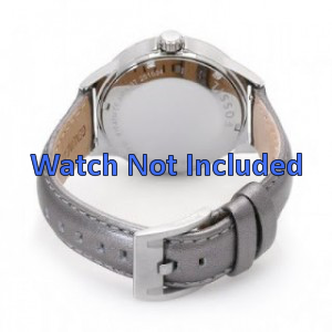 Fossil AM4337 watch strap silver leather