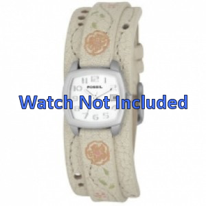 Fossil watch strap JR-8782 Leather Cream white 12mm