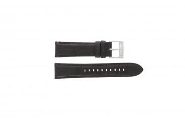 Fossil watch strap FS4672 Leather Black 22mm + default stitching
