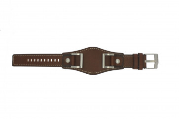 Watch strap Fossil JR1157 Leather Brown 24mm