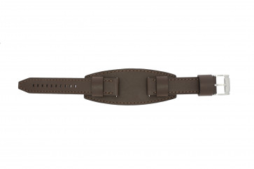 Watch strap Fossil JR1395 Leather Brown 20mm