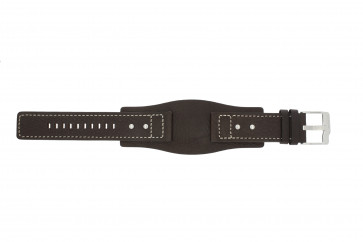Watch strap Fossil JR9990 Leather Brown 24mm