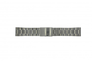 Watch strap Fossil FS4662 / 12XXXX / 25XXXX Steel Anthracite grey 24mm