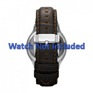 Watch strap Fossil FS4737 Leather Brown 22mm