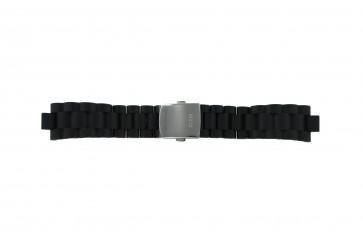 Guess watch strap I15056L1 / I11040L1 / I11005G2  Rubber / plastic Black 22mm