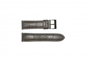 Watch strap Guess W12089G2 / W0079G1 Leather Grey 22mm