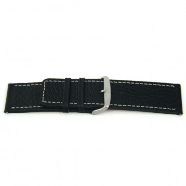 Watch strap Universal J125 Leather Black 26mm