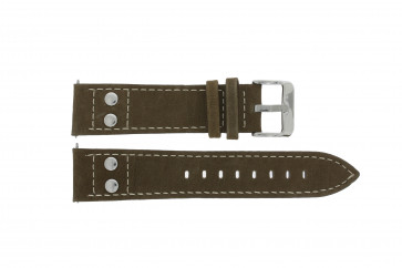 Watch strap H820 Leather Brown 22mm