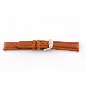 Genuine leather cognac brown 22mm G51