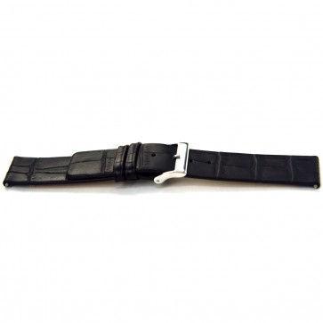 Buffalo kalf strap black 20mm J-53