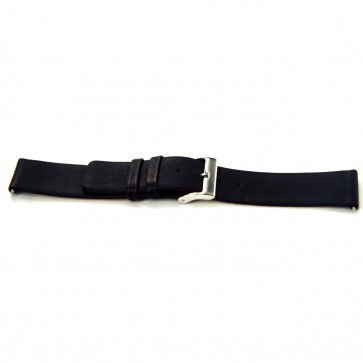 Watch strap Universal I105 Leather Black 24mm