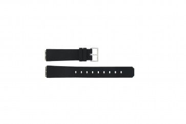 Jacob Jensen watch strap 130 square Rubber Black 17mm