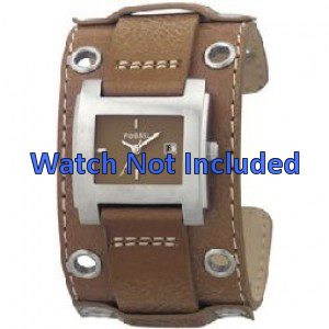 Fossil watch strap JR8149 Leather Brown 18mm + standard stitching