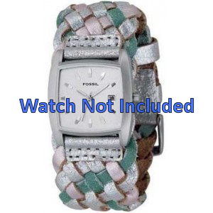 Watch strap Fossil JR9018 Leather Multicolor 20mm