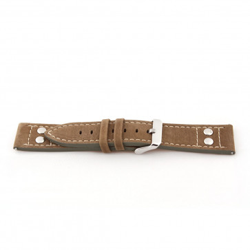 Watch strap Universal I820 Leather Brown 24mm