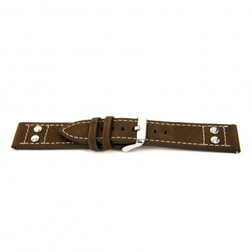 Watch strap Universal I367 Leather Brown 24mm
