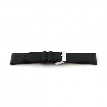 Watch strap Universal H010 XL Leather Black 22mm