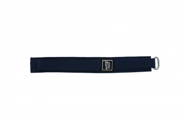 Velcro watch strap navy blue 18mm