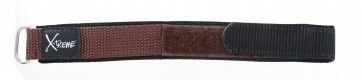 Velcro watch strap 20mm dark brown