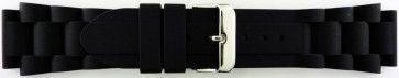 Watch strap Universal SL101 Silicone Black 20mm