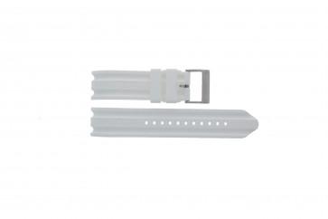 Watch strap Nautica A14608G / A16603G Rubber White 22mm