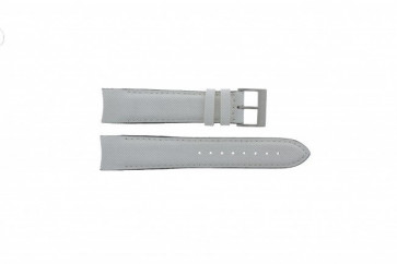 Nautica watch strap A24514G Leather White 22mm