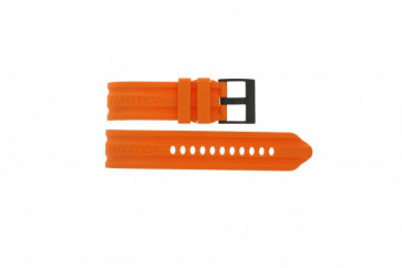Nautica watch strap A17586G /  A15565G / A43005G Rubber Orange 24mm