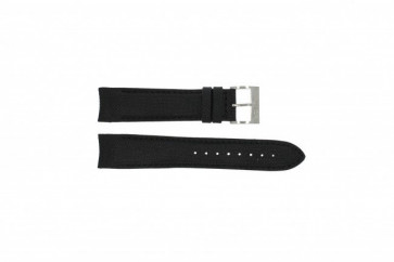 Nautica watch strap A15102G / A24520G / N16553G Silicone Black 22mm + black stitching