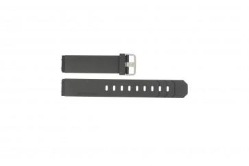 Jacob Jensen watch strap 600 / 800 / 601 / 602 Rubber / plastic Black 19mm