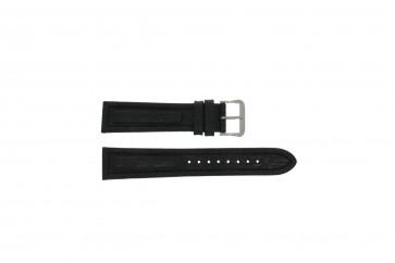 Watch strap Pulsar Y182-6C100 Leather Black 20mm