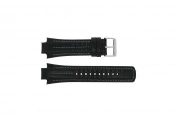 Watch strap YM62-X236 / PF3971X1 / PH083X Leather Black 15mm