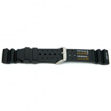 Watch strap Universal XF13 Rubber Black 18mm