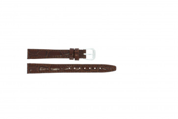 Leather watch strap croco varnish brown 8mm 082