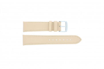 Watch strap genuine leather salmon / ocher color 24mm 283